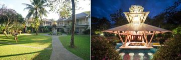 Segara Village Resort, Sanur, Exterior Bungalow Rooms and Jacuzzi Bar