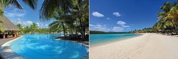 Shandrani Beachcomber Resort & Spa, Pool and Beach