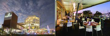 Shangri-La Hotel The Marina, Cairns, Hotel Entrance and North Bar & Kitchen
