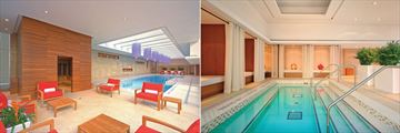 Shangri-La Hotel Toronto, Health Club Pool, Whirlpool and Cabanas