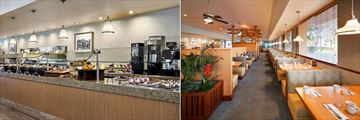 Park 55 Cafe Breakfast Area and Park 55 Dining Area at Sheraton Park Hotel at the Anaheim Resort