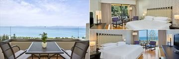 Panoramic Sea View Room, Classic Mountain View Room and Deluxe Sea View Room at Sheraton Rhodes