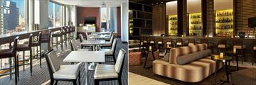 Club Lounge interior and Antica Bar at Sheraton Tribeca New York Hotel