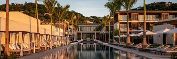 The pool at sunset at Silversands Grenada