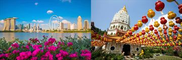 Singapore Skyline & Kek Lok Si Temple, Georgetown
