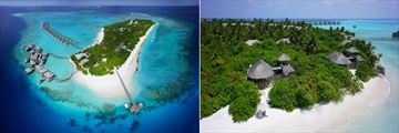 Six Senses Laamu, Aerial View of Resort