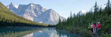 Small group touring Yoho National Park