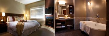 Solara Resort & Spa, Suite Bedroom and Bathroom
