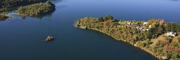Solitaire Lodge, Aerial View of Lodge and Lake Tarawera