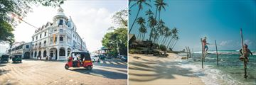 Classic Sri Lankan views: tuktuks and local fishermen