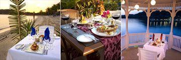 Beach Dining, Piccolo Mondo Restaurant and Gazebo Dining at St James's Club & Villas