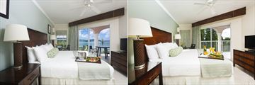 St. James's Club Morgan Bay, One Bedroom Ocean View Suite and One Bedroom Garden View Suite