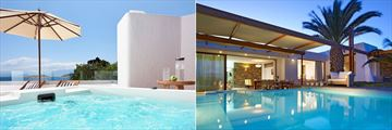 Club Junior Suite with Outdoor Jacuzzi and Aphrodite's House at St Nicolas Bay Resort Hotel & Villas