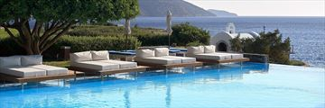 The infinity pool at St Nicolas Bay Resort Hotel and Villas
