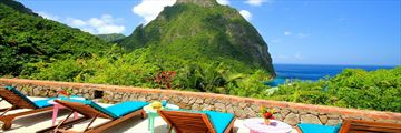 Stonefield Estate Villa Resort, View of the Pitons