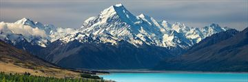 Stunning views of Mount Cook from Lake Pukaki, South Island