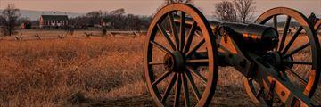 Sun fading over Gettysburg, Pennsylvania