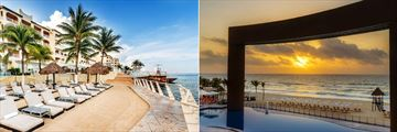 Sun Palace, Sun Deck, Pool and Beach