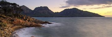 Sunset over Coles Bay, Freycinet National Park, Tasmania