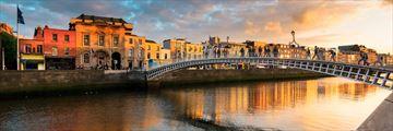 Sunset over Dublin, Ireland