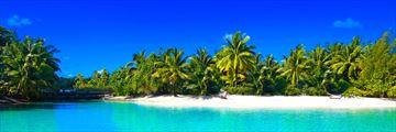 A secluded beach in Bora Bora