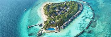 Aerial view of Taj Coral Reef Resort