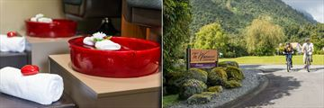 Te Waonui Forest Retreat, Amaia Luxury Spa Treatments and Cycling