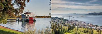 The Columbia River & Astoria City Skyline, Oregon