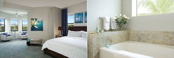 The Grove Resort & Waterpark, Accommodation Master Bedroom and Bathroom