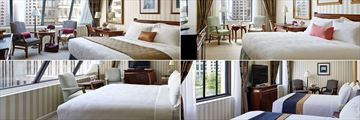 The Langham Boston, (clockwise from top left): Deluxe Premier Room, Deluxe Room, Deluxe Premier Room, Two Double Beds and Superior Room