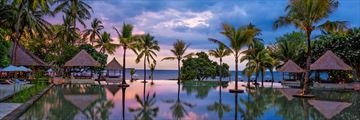 The infinity pool at The Oberoi Lombok