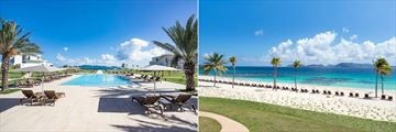 The pool and beach at The Reef by CuisinArt