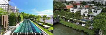 The Siam Hotel, Main Pool and Aerial View of Pool Villas and Main Pool