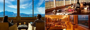 Lounging and dining at Tierra Patagonia