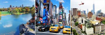Times Square, Central Park & Helicopter Tour over New York City