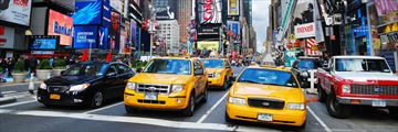 Yellow cabs in Manhattan