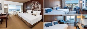 Purobeach Sea View, Superior Twin Room and Marina View Family Room at Tivoli Marina Vilamoura
