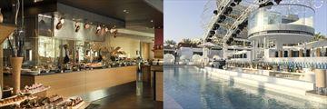 A La Turca Restaurant and the swim-up bar