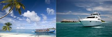 Scenic boat trips at Conrad Maldives