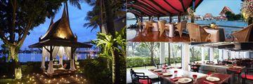 Romantic dining at Anantara Riverside Bangkok Resort