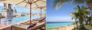 Gran Hotel Manzana Kempinski rooftop pool & Varadero coast
