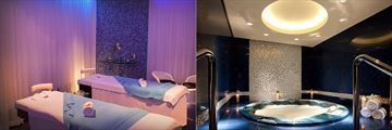 Spa facilities at JA Ocean View Hotel