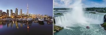 Toronto Skyline & Niagara Falls, Canada