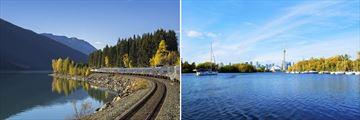 VIA Rail Train Journey & Toronto Skyline, Eastern Canada