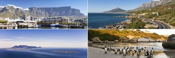 V & A waterfront, the Garden Route, Robben Island and Penguins on Boulders Beach, Cape Town
