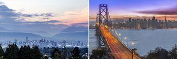 Vancouver & San Francisco City Skyline Views