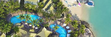 Aerial View of Veranda Grand Baie Hotel & Spa