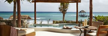 Viceroy Riviera Maya, Beachfront Villa Terrace, Pool and View