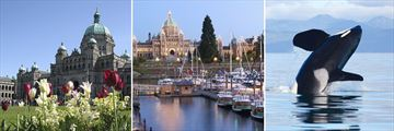 Victoria Parliament Building, Harbour & Whale Watching, Vancouver Island