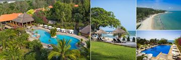Victoria Phan Thiet, La Paillotte Pool, Beach and Sun Loungers, Aerial View of Resort and Beach and Infinity Pool